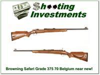 Browning Safari Grade Belgium 375 H&H as new!