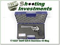 Smith & Wesson 629-6 629 Stainless 44 Magnum 6in Ported ANIC