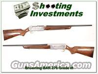 Browning BAR 270 High Grade looks unfired!