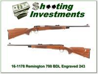 Remington 700 BDL factory engraved 243 Winchester!