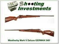 Weatherby Mark V Deluxe GERMAN 340 Wthy Mag 26in Exc Cond!
