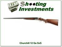 Churchill Side by Side 12 Gauge nice engraving Exc Cond!