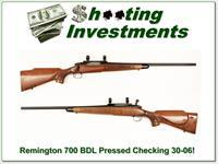 Remington 700 BDL 30-06 older Pressed Checkering Exc Cond!