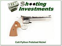 Colt Python 6in Polished Nickel 357 Magnum near new!