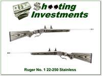 Ruger No.1 Stainless Laminate 22-250