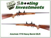 Anchutz Model 1710 Target heavy barrel 22 LR collector condition