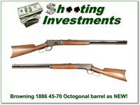 Browning 1886 45-70 Rifle 26in Octagonal Barrel Exc Cond!