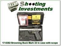 Browning Buck Mark 22 in case with Red Dot Sight!