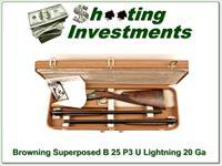 Browning Superposed B25 P3 Featherweight 20 Gauge 2 barrel set