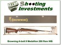 Browning A-bolt II Medallion 280 Rem last of the new ones!