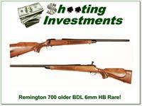 Remington 700 early BDL 6mm Varmint Heavy Barrel