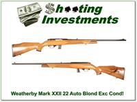 Weatherby XXII 22 LR Auto Honey Blond Exc Cond!