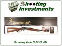 Browning Model 53 32-20 NIB!