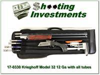 Krieghoff 12 Gauge Model 32 Skeet Gun with Briley tube set