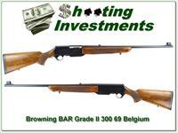 Browning BAR Grade II 69 Belgium 300 Win Mag collector!