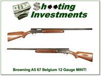 Browning A5 12 Gauge 67 Belgium MINT!