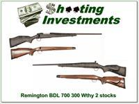 Remington BDL 700 in 300 Weatherby Mag 2 stocks!