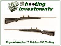 "Ruger Mark II Stainless ""Skeleton"" All Weather 338 Win Mag near new!"