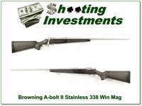 Browning A-bolt II Stainless 338 Win Mag Exc Cond!