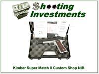 Kimber Super Match Custom Shop 45 ACP as new in case