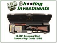 Browning Citori High Grade III Case Colored Sideplate 12 Gauge NIC