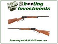Browning Model 53 Deluxe 32-20 looks new XX Wood!