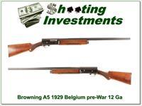 Browning A5 pre-War 1929 A5 30in Solid Rib!