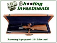 Browning Superposed 1956 Belgium 12 Gauge in TOLEX case!