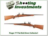Ruger 77 Flat Bolt Red Pad 6mm Remington!