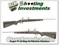Ruger 77 / 22 All Weather Stainless Skeleton 22 Magnum!