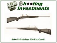 Sako 75 Stainless 270 Exc Cond