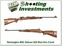 Remington 700 Deluxe Engraved 222 Rem as new!