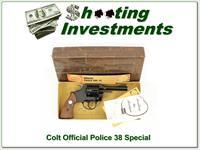 Colt Official Police 38 Special 4in in box!