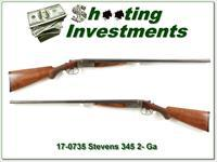 Rare Stevens Model 345 20 Gauge Sportman's Idea SxS!