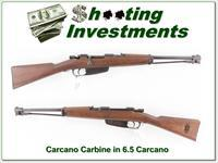 Carcano Carbin in 6.5 Carcano Very Good Cond!