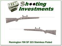 Remington 700 SF Stainless Fluted 223 Remington