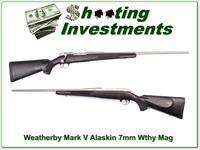 Weatherby Mark V Alaskan 7mm Wthy Mag Exc Cond