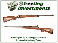 Remington 700 BDL Vintage Stainless 7mm Pressed Checkering