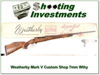 Weatherby Mark V Custom Shop 7mm Wthy