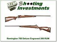 Remington 700 BDL Deluxe engraved 300 RUM