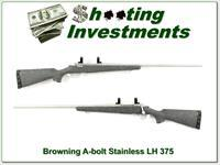 Browning A-Bolt Left Handed 375 Stainless Stalker!