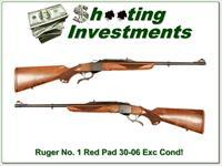Ruger No. 1 Light Sporter Red Pad 30-06 Exc Cond!