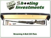 Browning A-Bolt II 223 Varmint Laminated BOSS as new!