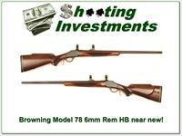 Browning Model 78 6mm Heavy Barrel Exc Wood!