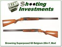 Browning Superposed Lightning 60 Belgium RKLT 28in!