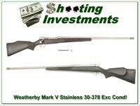 Weatherby Mark V Stainless in 30-378 Wthy Mag!