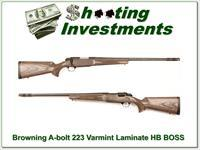 Browning A-bolt Stainless Laminated Varmint 223 as new BOSS