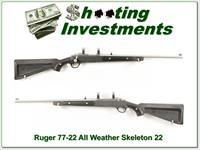 Ruger 77/22 All Weather Stainless Skeleton w/ 2 magazines!