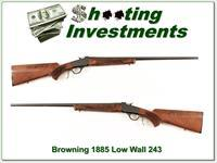 Browning 1885 Low Wall 243 Winchester single shot!