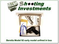 Beretta Model 92 Early Italian made NIB!